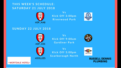 Game Schedule 21 - 22 July 2018