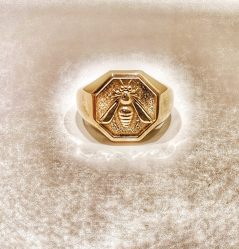 Bee Octagon Ring