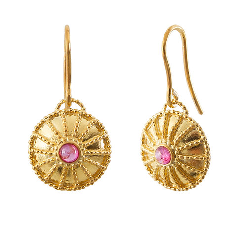 Ruby Byzantine Earrings