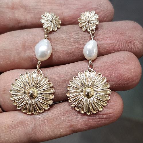 Byzantine Baroque Pearl Earrings