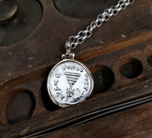 Byzantine coin pendant