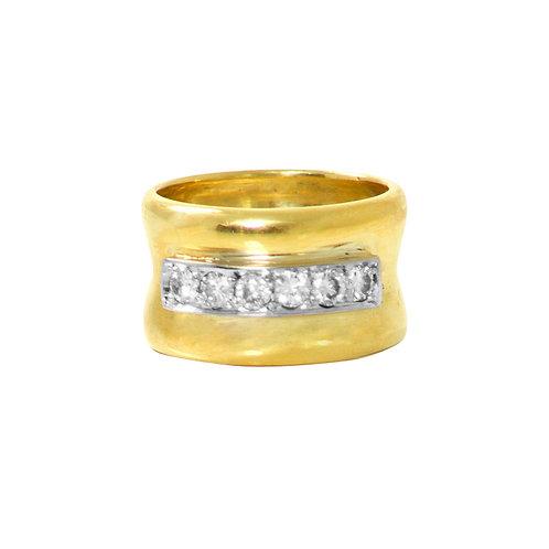 Diamond Cigar Ring
