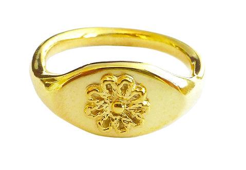 Signet Flower Ring