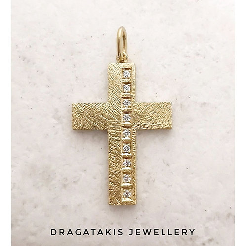18k diamond cross