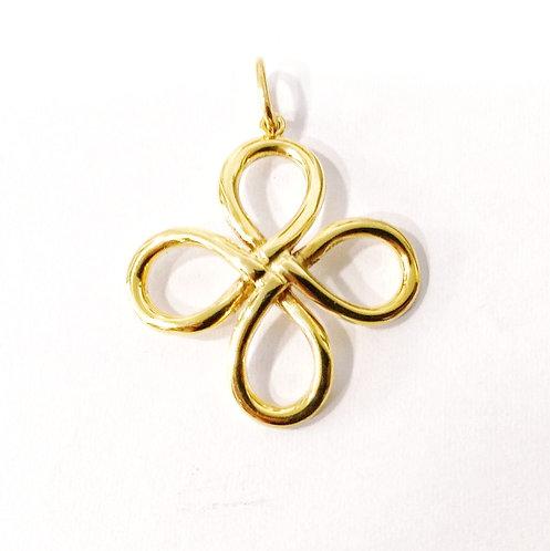 Gold feminine cross