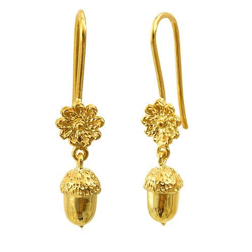 Dangle Acorn Earrings
