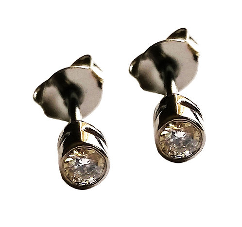 Solitaire Diamond Earrings