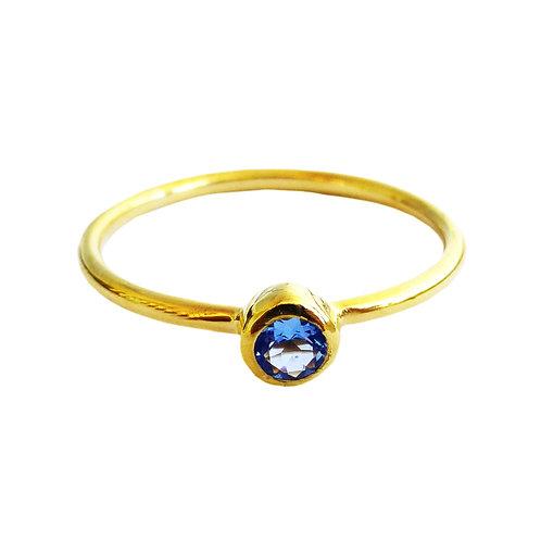 Aquamarine Stackable ring