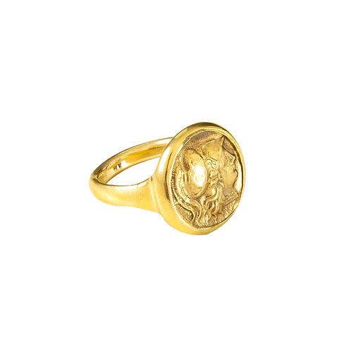 """""""Athena"""" Gold Ring"""