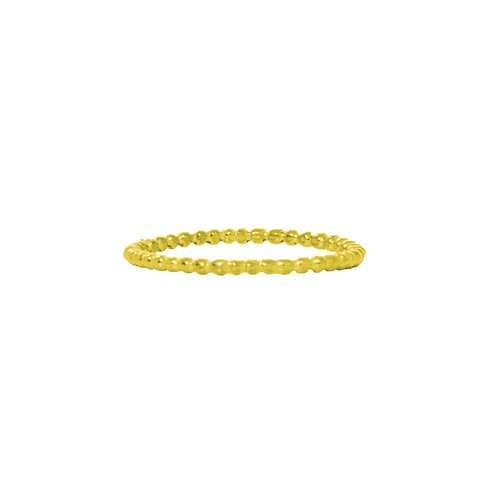 Bead Gold Stacking Ring