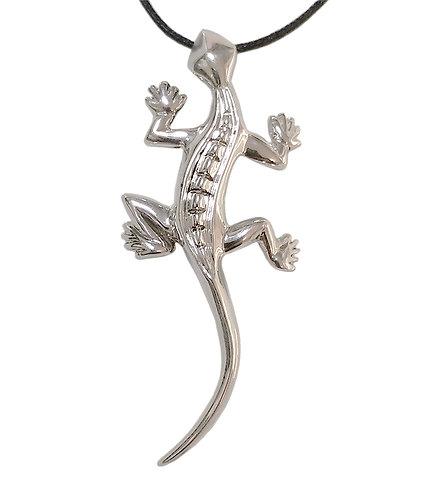 Salamander Silver Necklace