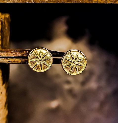 Vergina Star Gold Earrings