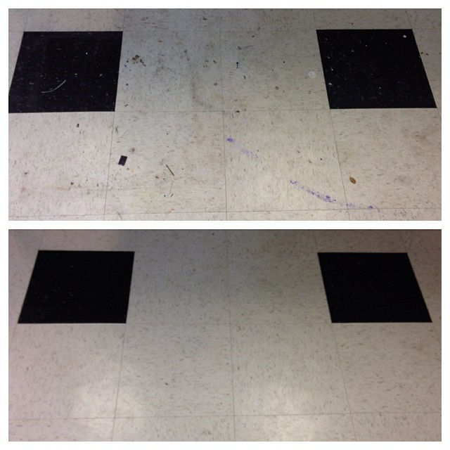 VCT Strip and Refinish