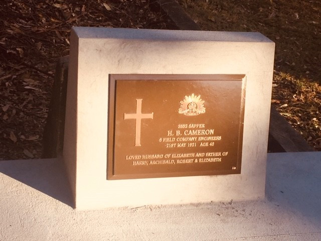THE HEADSTONE PROJECT'S FIRST COMPLETED WAR GRAVE