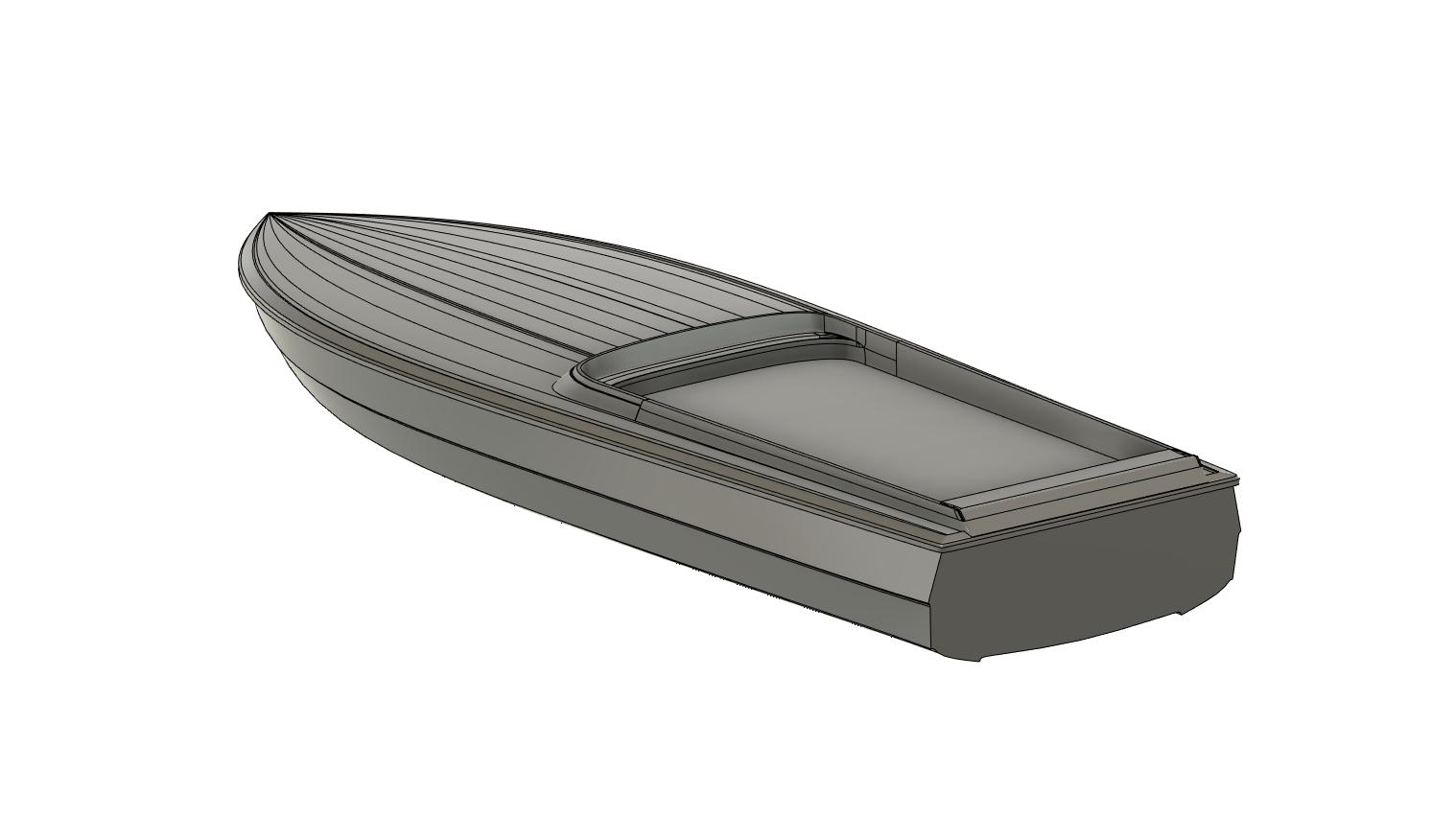 3D digital CAD model of a racing boat