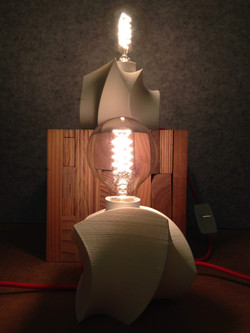 3D printed lamps with vintage incandescent bulbs