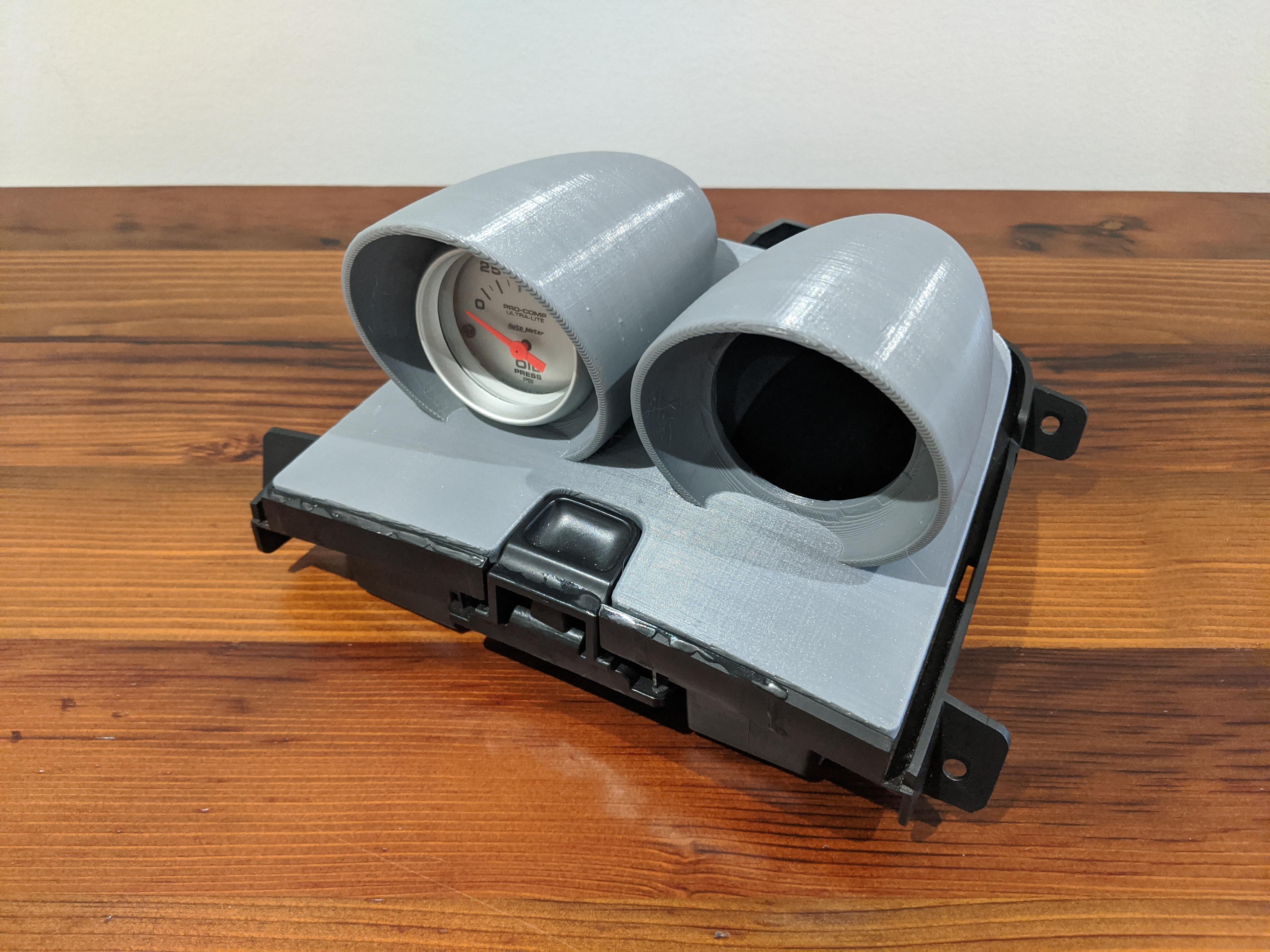Prototype of an automotive gauge pod