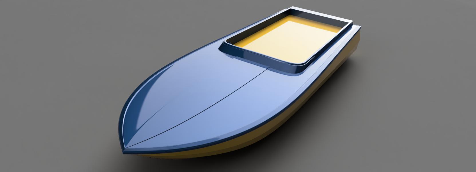 3D digital render of a racing boat – 1