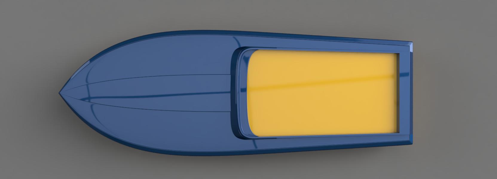 Digital 3D render of a racing boat – 2