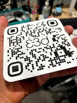 3D printed QR code