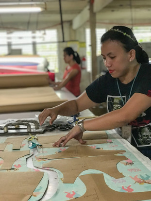 LAYOUTING THE PATTERNS ON THE FABRIC