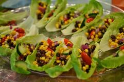 Southwestern bean salad cups