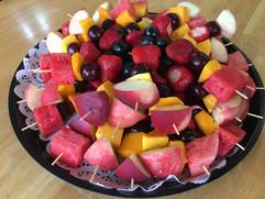 Summer fruit skewers
