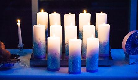 Custom candle ceremony display