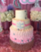 Baptism tiered cake
