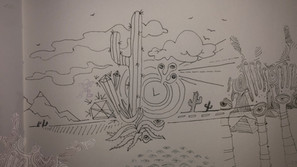 DESERT LINE DRAWING