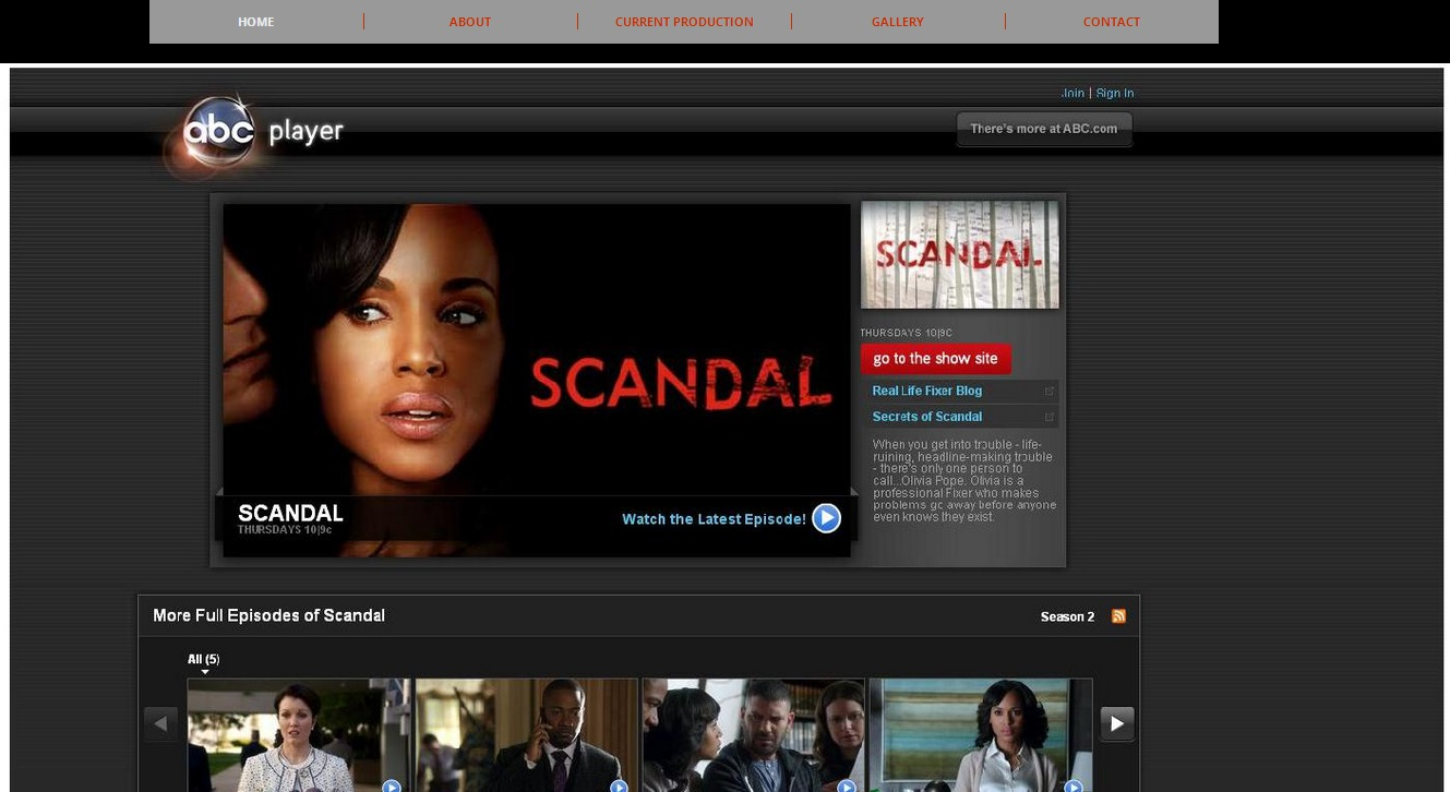 Scandal Duplicate Site (ABC)
