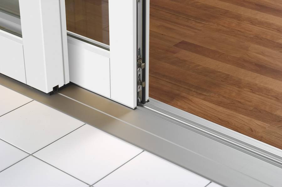 A low threshold allows for easy transition from one space to the other