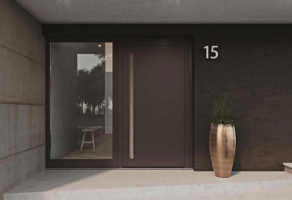 Aluminum Entrance Door, Modern Front Door, Contemporary Front Door, HEROAL Entrance Door, Aluminum Door, St. Catharines, Hamilton, Burlington, Oakville, Toronto, Muskoka, Ottawa