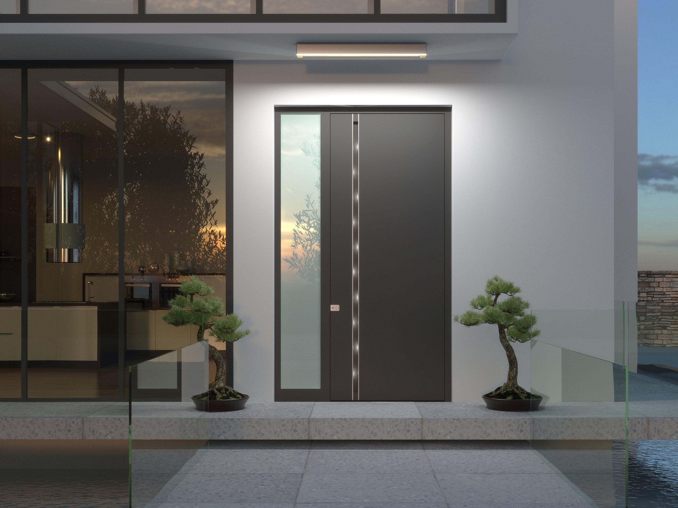 Heroal Aluminium Door, Modern Entrance Door, Front Door, Contemporary Entrance Door. Aluminium Entra