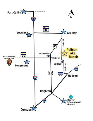 Map of Pelican Lake Ranch Location