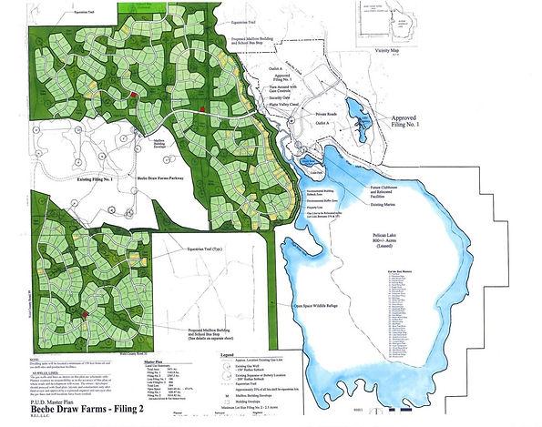 Pelican Lake Ranch Filing 2 Plat Map