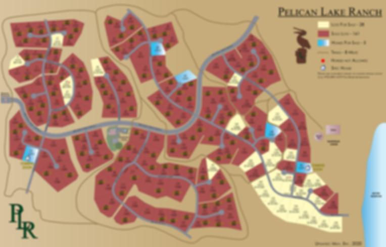 Pelican Lake Ranch - Colorized Plat Map