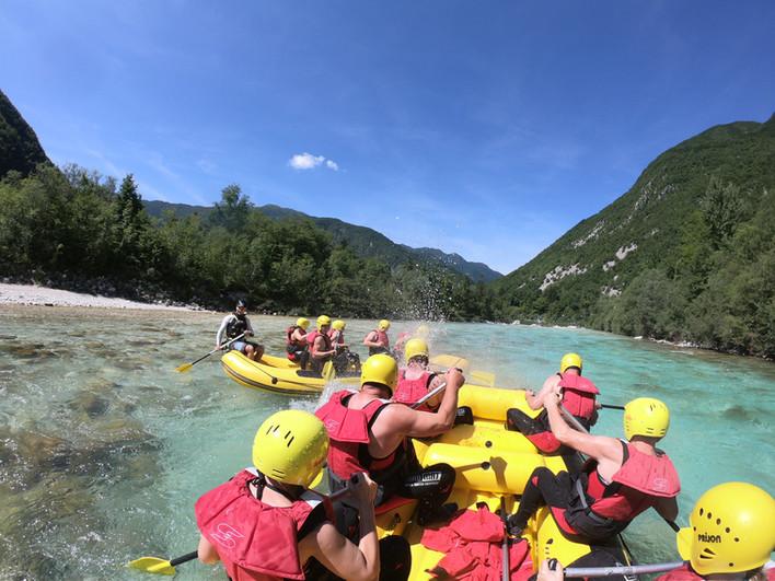 Rafting on river Soča