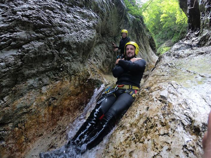 Sliding in Sušec canyon