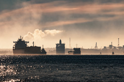 Cargo Ship Silhouette