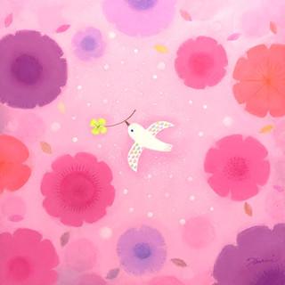 白い鳥〜花〜