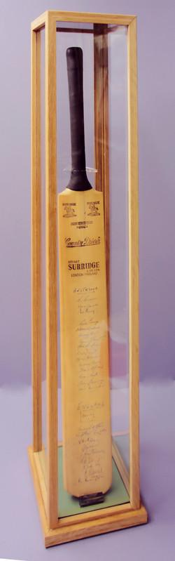 Oak box-frame UV safe acrylic
