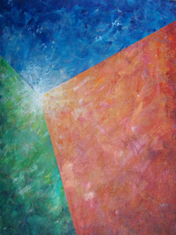 Light on three elements by A. Villacampa acrylic on canvas
