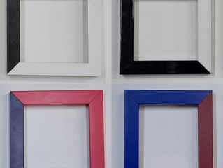 Be creative! Bespoke colorful contemporary frames.