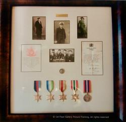 Bespoke box frames for medals