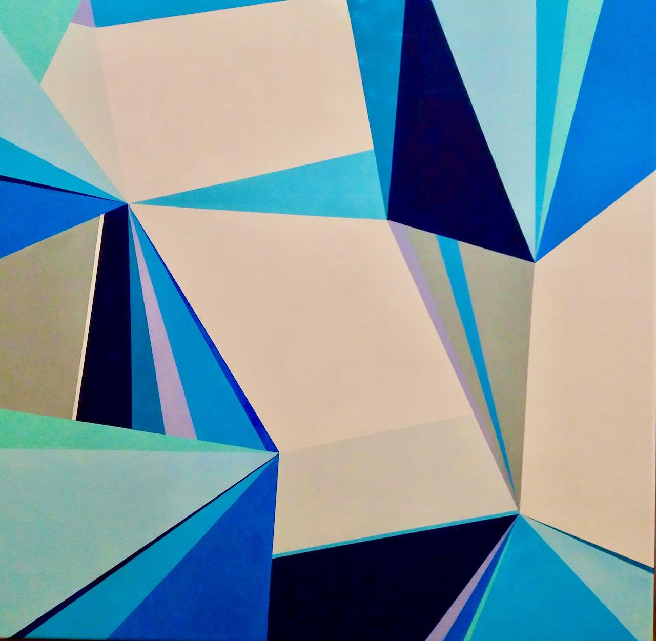 Iced lights by A. Villacampa acrylic on canvas