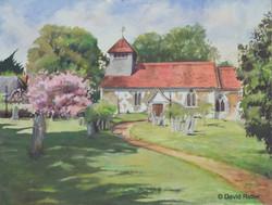 Landscape watercolor by D. Ridler