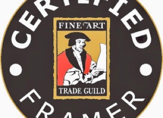 Guild Certified Framer: ensuring high quality standards in picture framing.