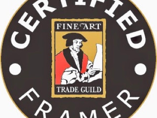 Guild Certified Framer: ensuring high quality standards in picture framing.