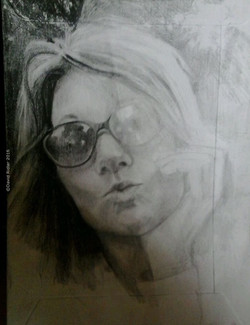 Portrait in pencil by D. Ridler